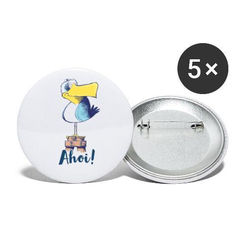Lustige Ahoi Moewe - Buttons groß 56 mm (5er Pack)