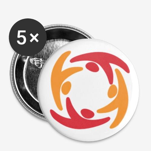 Logo - Buttons groß 56 mm (5er Pack)