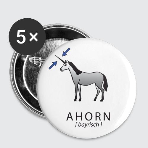 ahorn - Buttons groß 56 mm (5er Pack)