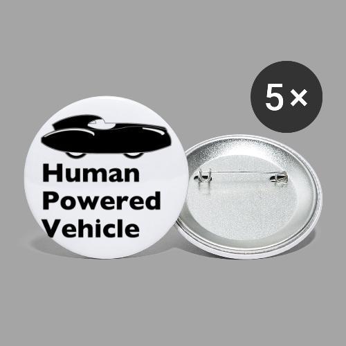 Quattrovelo Human Powered Vehicle black - Rintamerkit isot 56 mm (5kpl pakkauksessa)