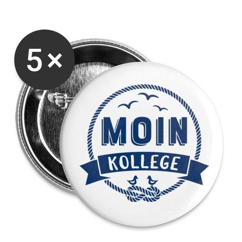 Moin Kollege maritimer Spruch - Buttons groß 56 mm (5er Pack)
