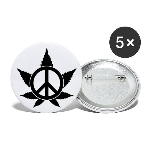 Peace - Buttons groß 56 mm (5er Pack)