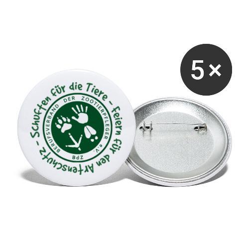 Schuften für die Tiere, Feiern für den Artenschutz - Buttons groß 56 mm (5er Pack)