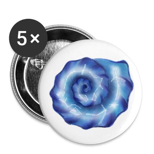 Galaktische Spiralenmuschel! - Buttons groß 56 mm (5er Pack)