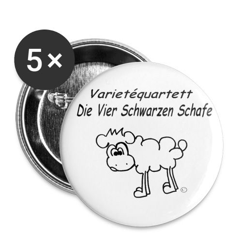 front - Buttons groß 56 mm (5er Pack)