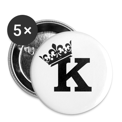 King Logo Black png - Buttons groß 56 mm (5er Pack)