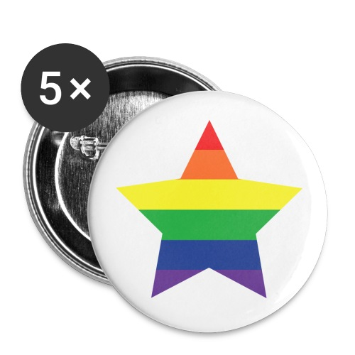 Rainbow star - Buttons large 2.2''/56 mm(5-pack)