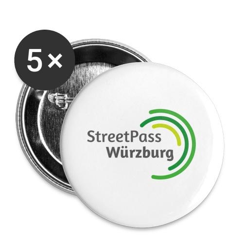Streetpass Würzburg - Buttons groß 56 mm (5er Pack)