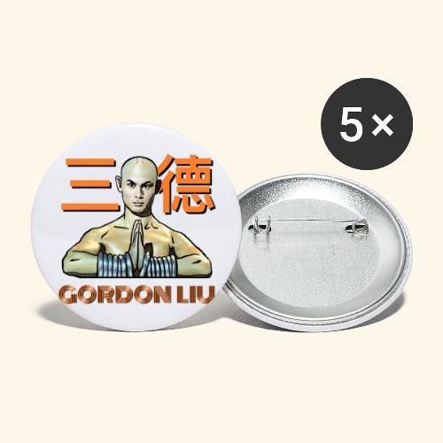 Gordon Liu - San Te Monk (Official) 6 prikker - Buttons/Badges stor, 56 mm (5-pack)