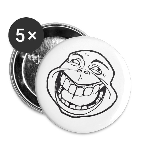 meme face not really by xarity d4es290 png - Buttons groot 56 mm (5-pack)