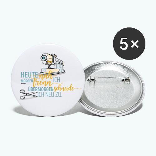 Nähen Schneidern Frauen Spruch Handarbeit - Buttons groß 56 mm (5er Pack)