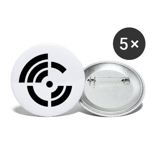 electroradio.fm logo - Buttons groß 56 mm (5er Pack)