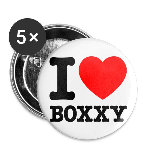 IHEARTBoxxy - Buttons large 2.2''/56 mm (5-pack)