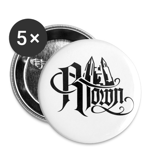 rtowngross - Buttons groß 56 mm (5er Pack)