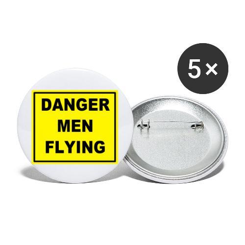 DangerMenFlying Sign - Buttons large 2.2''/56 mm(5-pack)