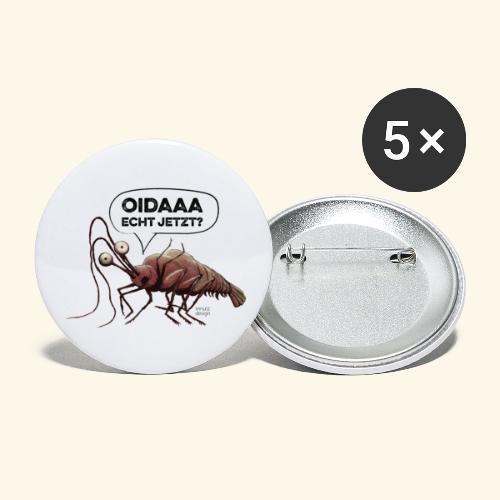 Oida - Echt jetzt? Hummer - Buttons groß 56 mm (5er Pack)