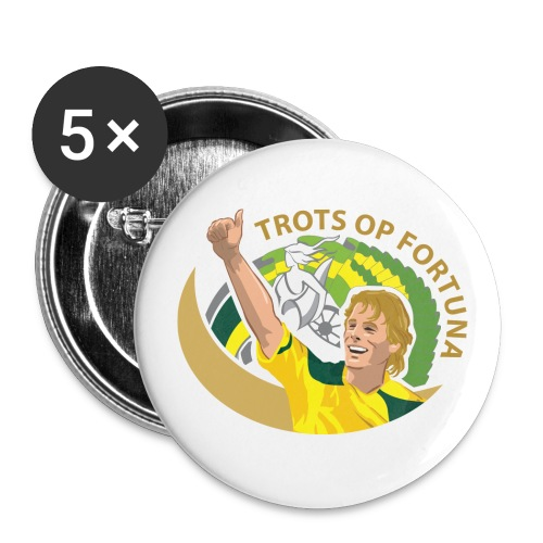 toflogokleur - Buttons groot 56 mm (5-pack)
