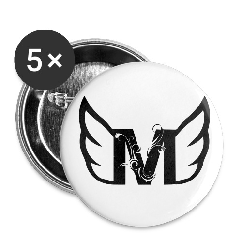 Black M - Buttons groot 56 mm (5-pack)