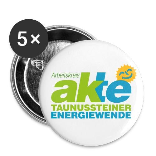AKTE Logo png - Buttons groß 56 mm (5er Pack)