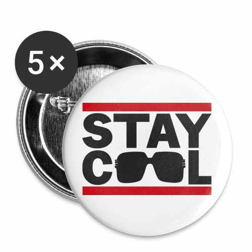 Stay Cool BLK √ - Buttons/Badges stor, 56 mm (5-pack)