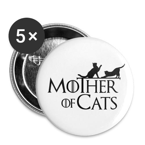 1 texto gatos eng png - Paquete de 5 chapas grandes (56 mm)