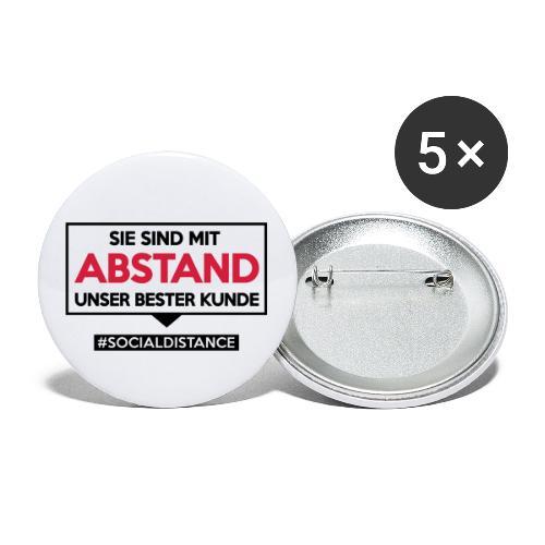 Sie sind mit ABSTAND unser bester Kunde - T Shirts - Buttons groß 56 mm (5er Pack)