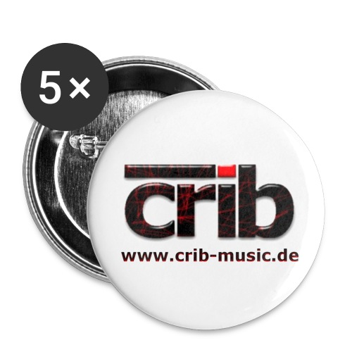 crib Logo - Buttons groß 56 mm (5er Pack)