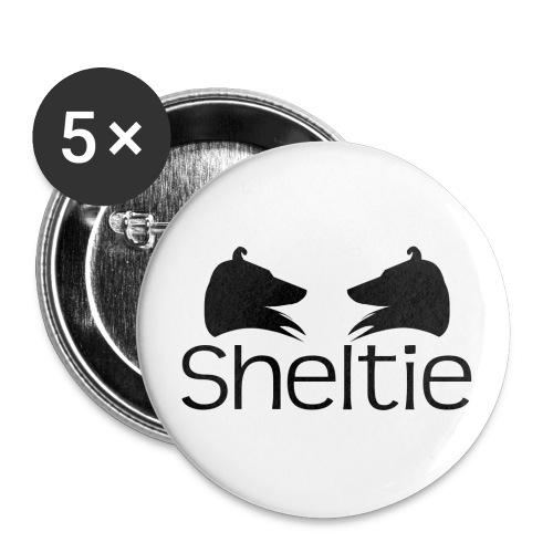 sheltie - Przypinka duża 56 mm (pakiet 5 szt.)