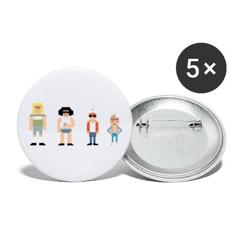 8bit - Buttons groot 56 mm (5-pack)