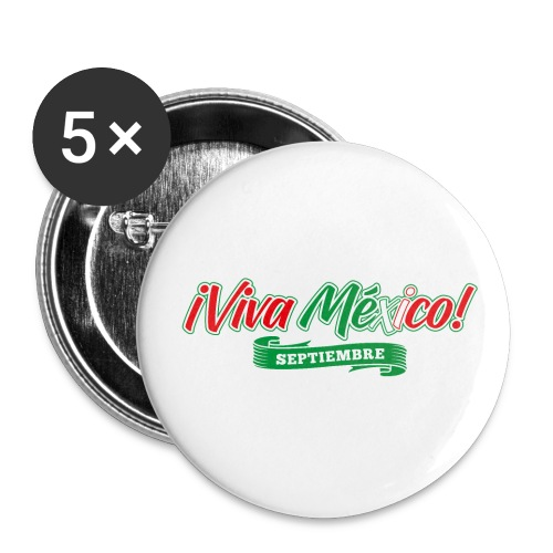 Viva Mexico - Paquete de 5 chapas grandes (56 mm)