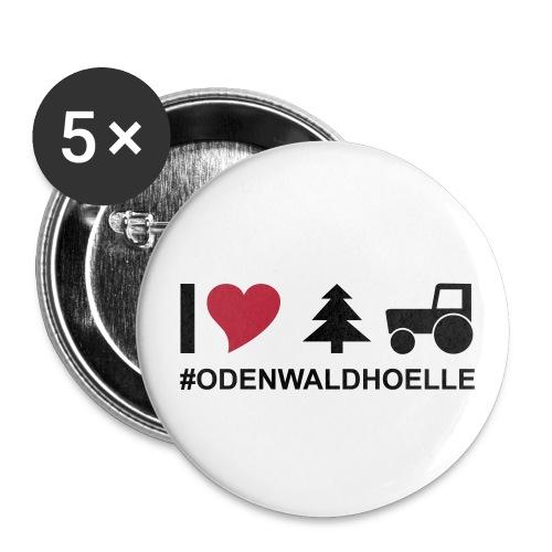 I love odenwaldhoelle Piktogramm - Buttons groß 56 mm (5er Pack)