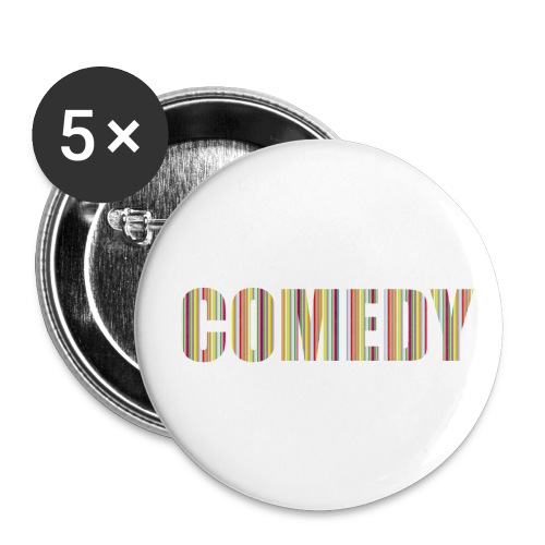 Comedy - Buttons groß 56 mm (5er Pack)