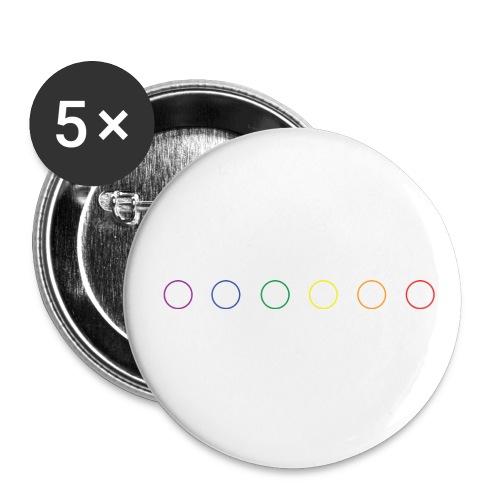 LGBT logo - Lot de 5 grands badges (56 mm)
