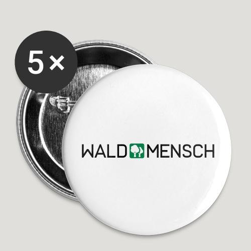 Waldmensch - Buttons groß 56 mm (5er Pack)
