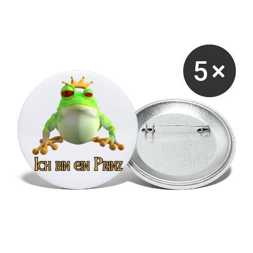 Ich bin ein Prinz - Buttons groß 56 mm (5er Pack)