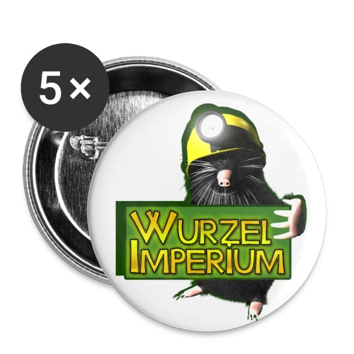 Wurzelimperium Maulwurf - Buttons groß 56 mm (5er Pack)