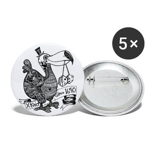 dodofinalschwarz - Buttons groß 56 mm (5er Pack)