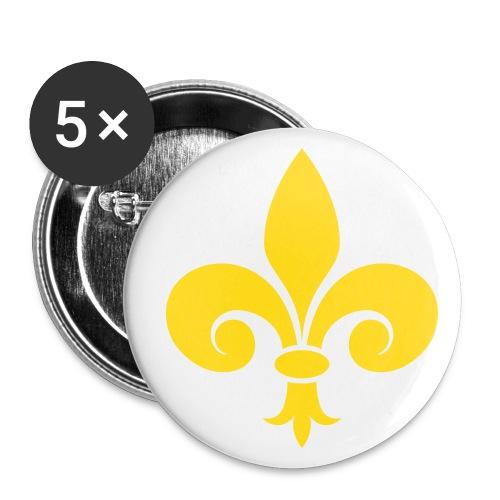 Fleur de Lys royale - Lot de 5 grands badges (56 mm)