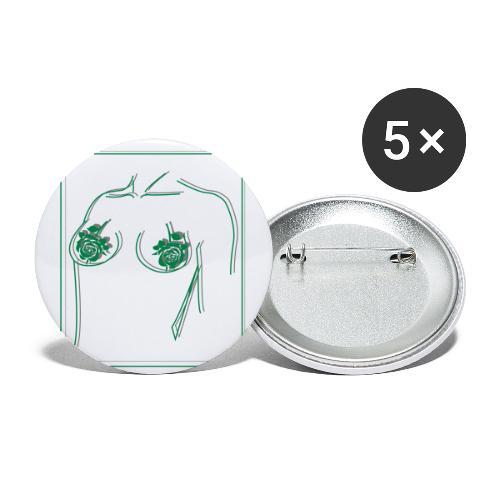 body - Stora knappar 56 mm (5-pack)
