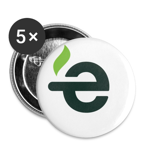 E logo - Buttons groot 56 mm (5-pack)