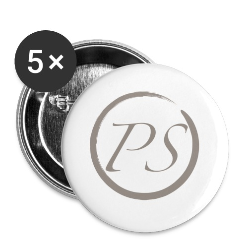 PS Logo 2 - Buttons groß 56 mm (5er Pack)