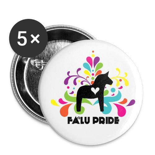 Logotyp med text - Stora knappar 56 mm (5-pack)