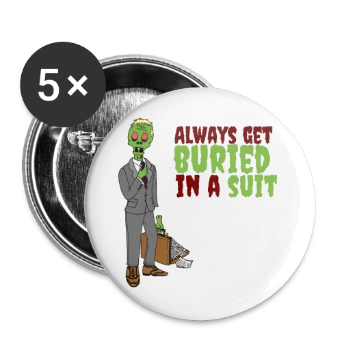 Buried in Suit - Buttons large 2.2''/56 mm(5-pack)