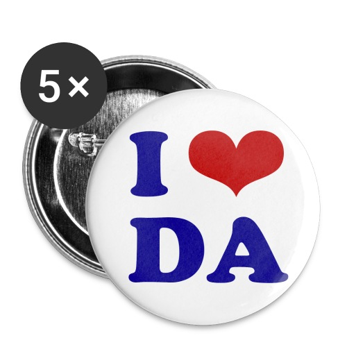 Button I Love DA - Buttons groß 56 mm (5er Pack)