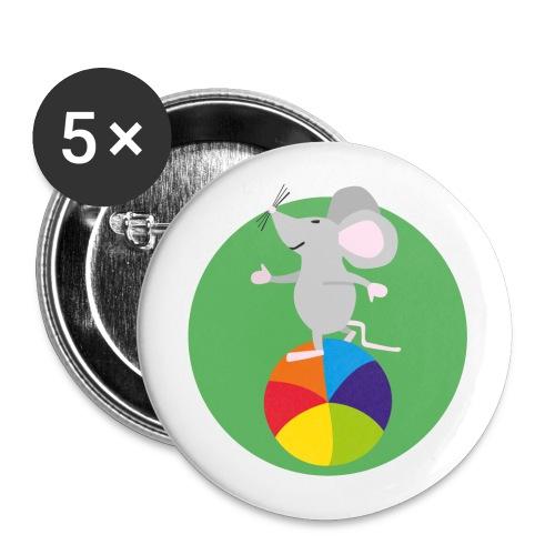 Maus Fridolin Fabelhaft - Buttons groß 56 mm (5er Pack)
