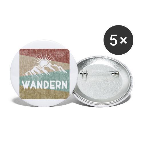 Wandern Geschenk Bergfex Alpenfex Cool Outdoor - Buttons groß 56 mm (5er Pack)