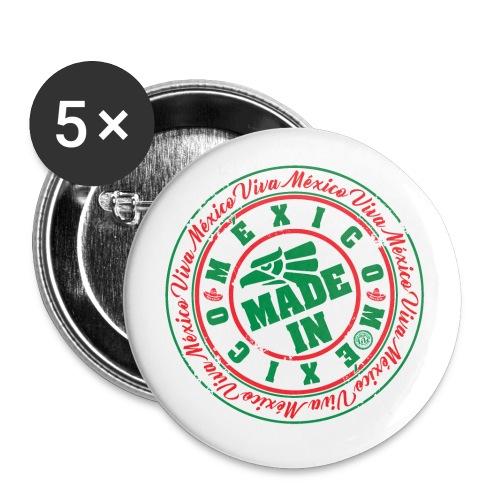 Made In México - Paquete de 5 chapas grandes (56 mm)
