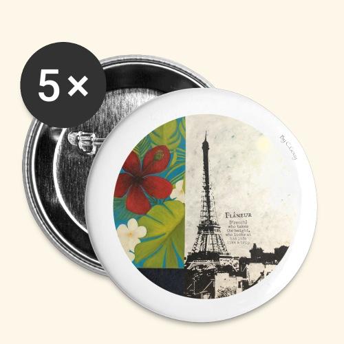 Flâneur - Lot de 5 grands badges (56 mm)
