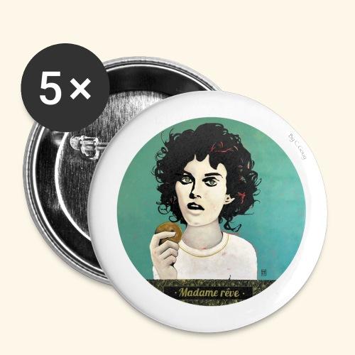 Madame rêve - Lot de 5 grands badges (56 mm)