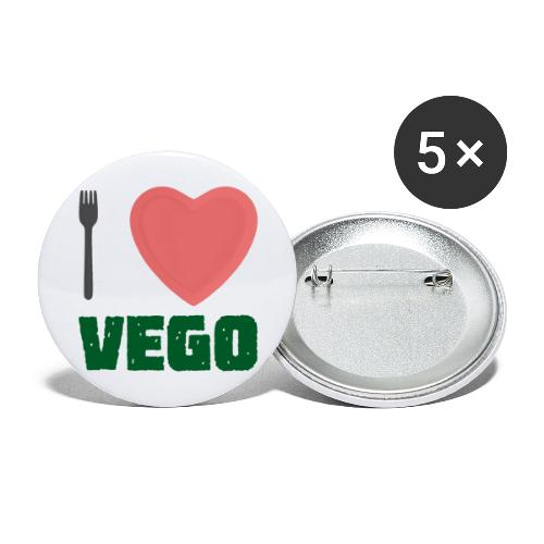 I love Vego - Clothes for vegetarians - Buttons large 2.2''/56 mm(5-pack)